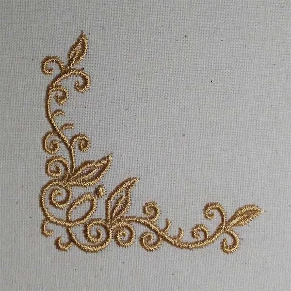 Embroidery Design Corners Fine Ornament