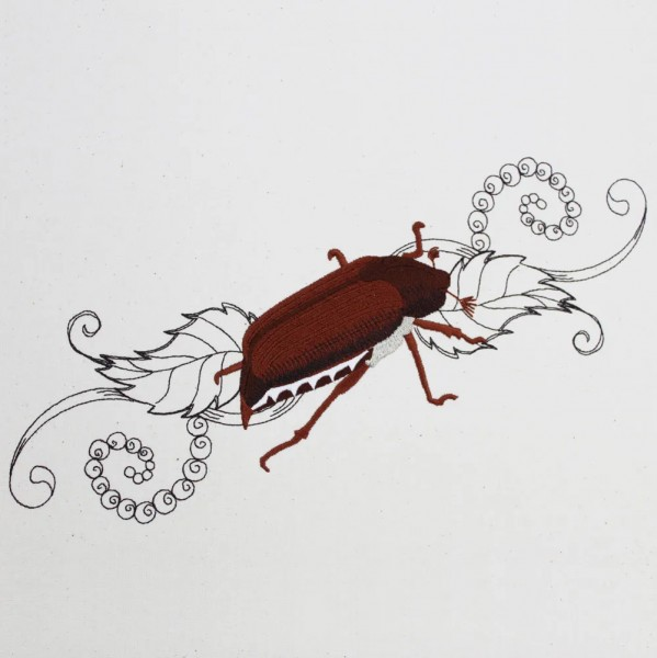 Embroidery Design Cockchafer romantic