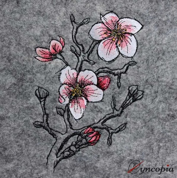 Embroidery Design Spring Blossom romantic