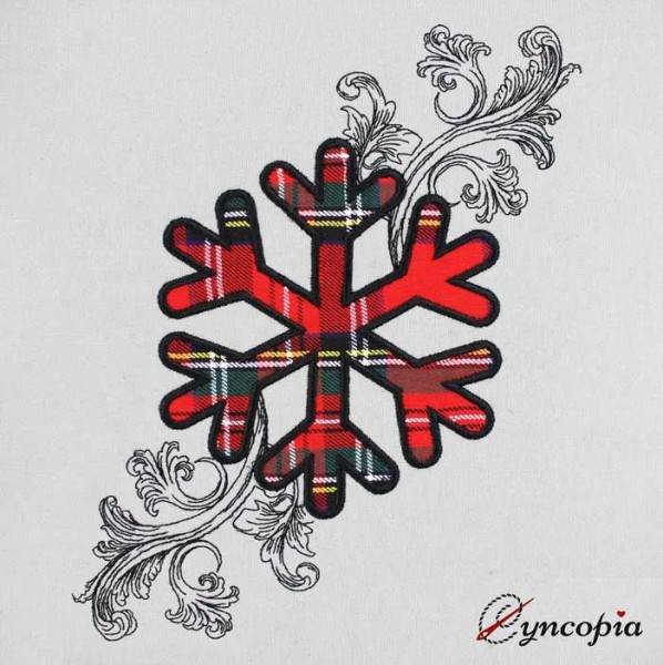 Embroidery Design Snowflake appli baroque