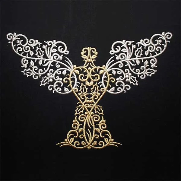 Embroidery Design Angel X-Mas Ornament