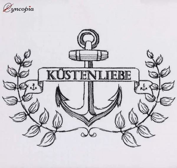 Embroidery Design Kustenliebe Anchor Emblem