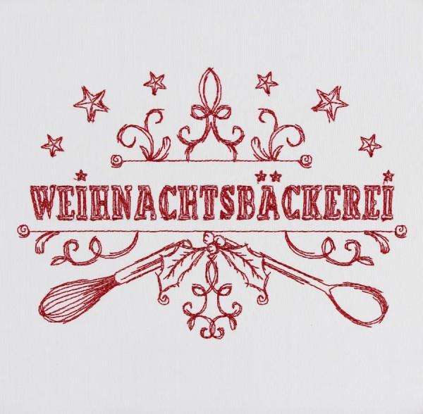 Embroidery Design Saying Weihnachtsbäckerei