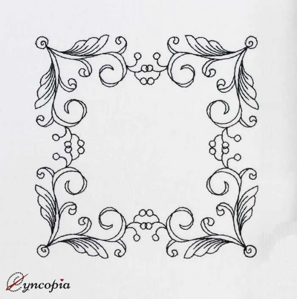Embroidery Design Frame Melissa