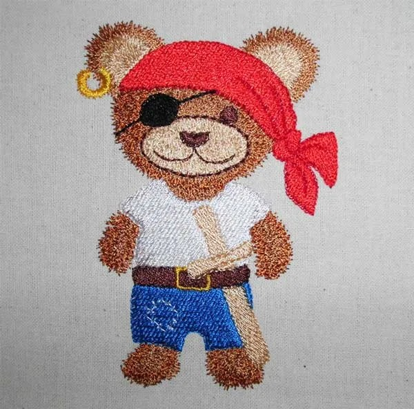 Fichier Broderie Teddy Pirate