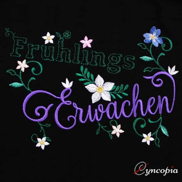 Embroidery Design Frühlingserwachen Saying