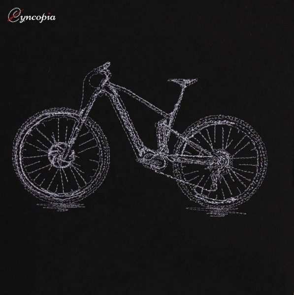 Embroidery Design Mountainbike scribble