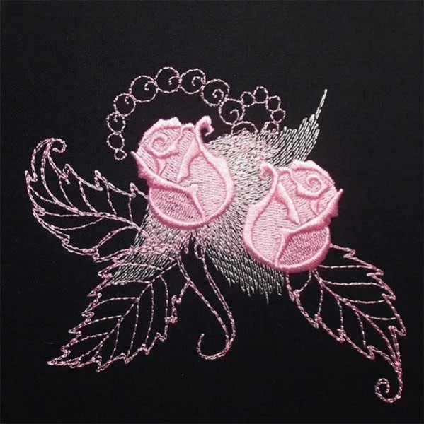 Embroidery Design Gorgeous Rose Bud
