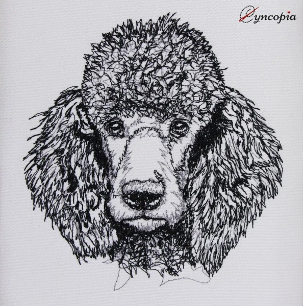 Embroidery Design Poodle Scribble