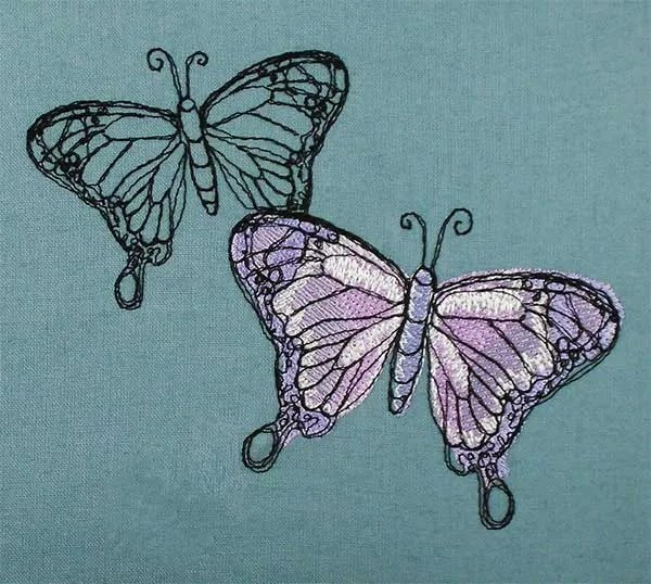 Schmetterling Scribble Lila