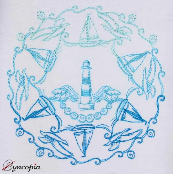 Stickdatei Maritimes Mandala 1