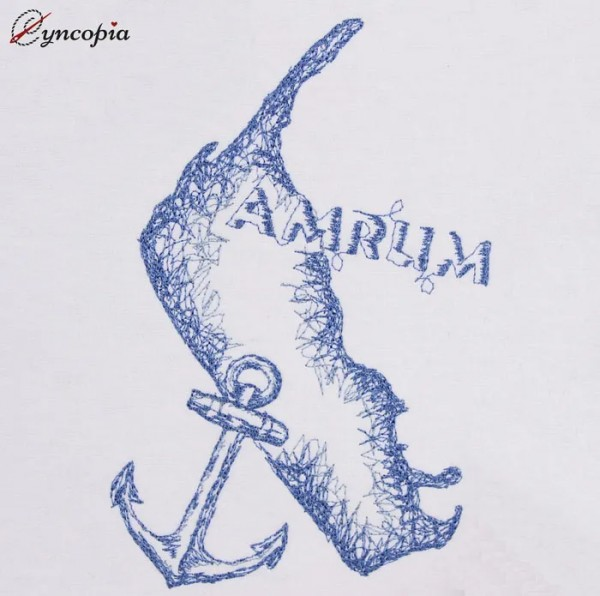 Stickdatei Amrum Anker Scribble
