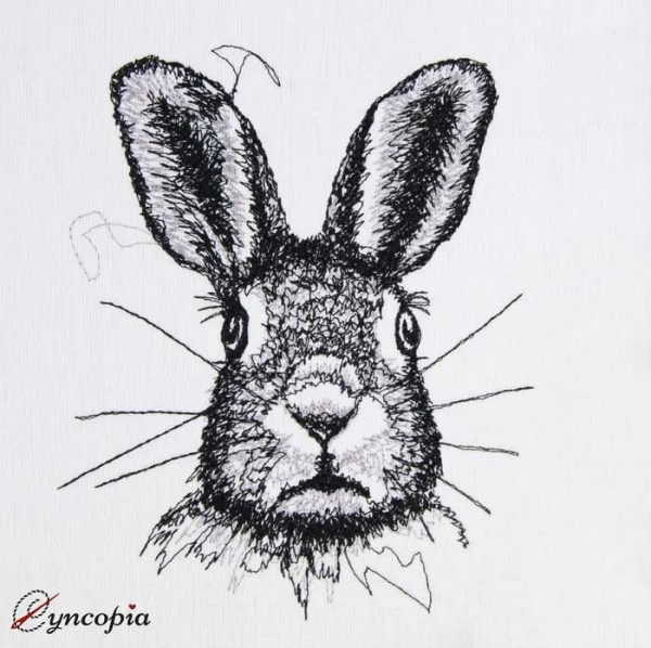 Embroidery Design Rabbit scribble