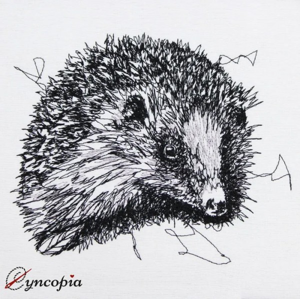 Embroidery Design Hedgehog Scribble