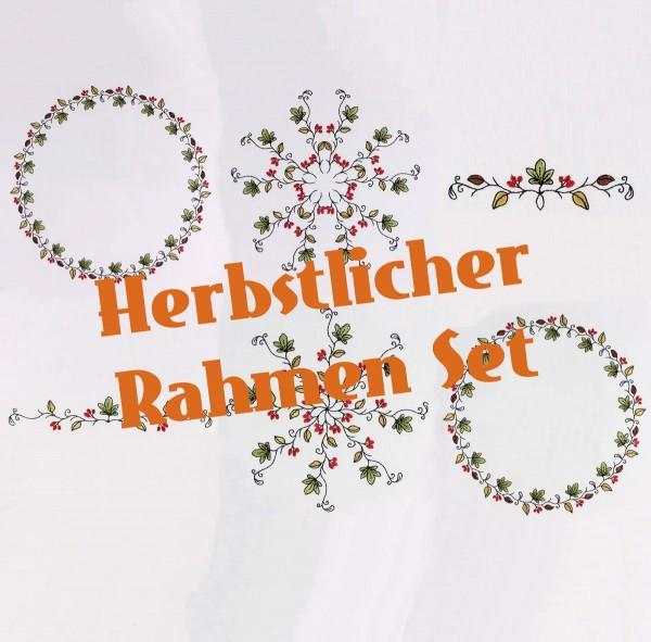 Embroidery Design Autumn Frame Set