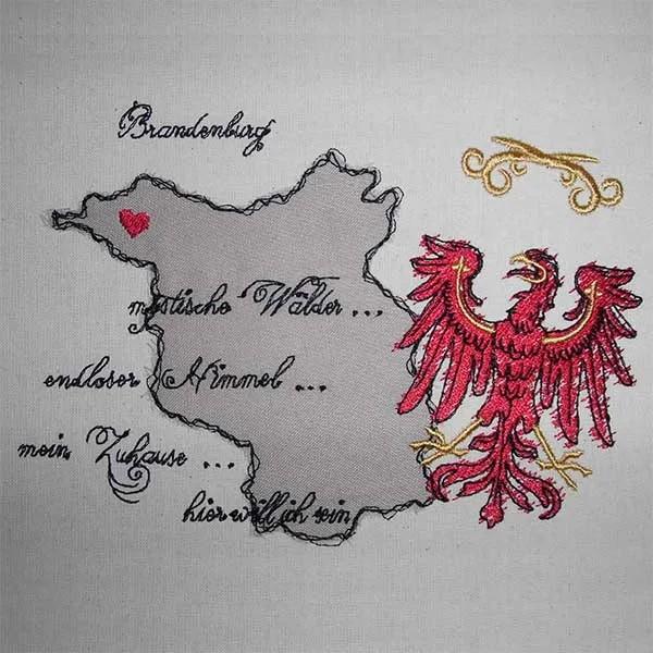 Stickdatei Brandenburg Doodle