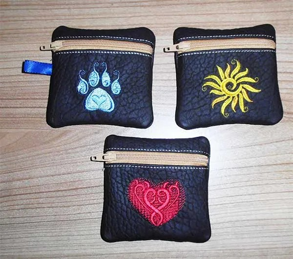 Embroidery Design Zipper Bag 4x4 ITH