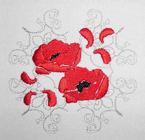Embroidery Design Poppy classic