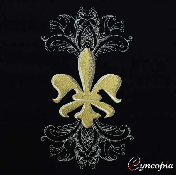 Fichier Broderie Fleur de Lys elegante