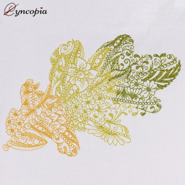 Embroidery Design Oak Leaf Zendoodle