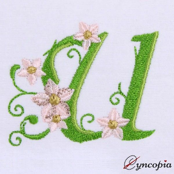 Embroidery Design Marguerites Alphabeth U