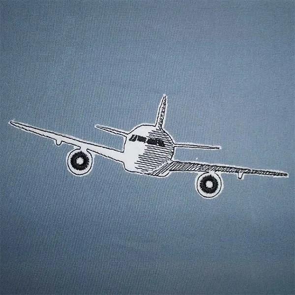 Fichier Broderie Avion doodle