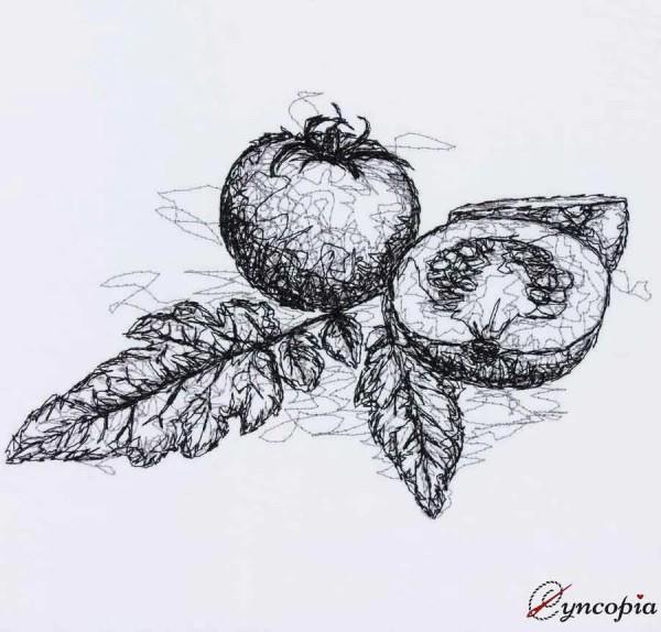 Embroidery Design Tomato scribble