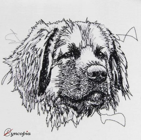 Embroidery Design Leonberger Scribble