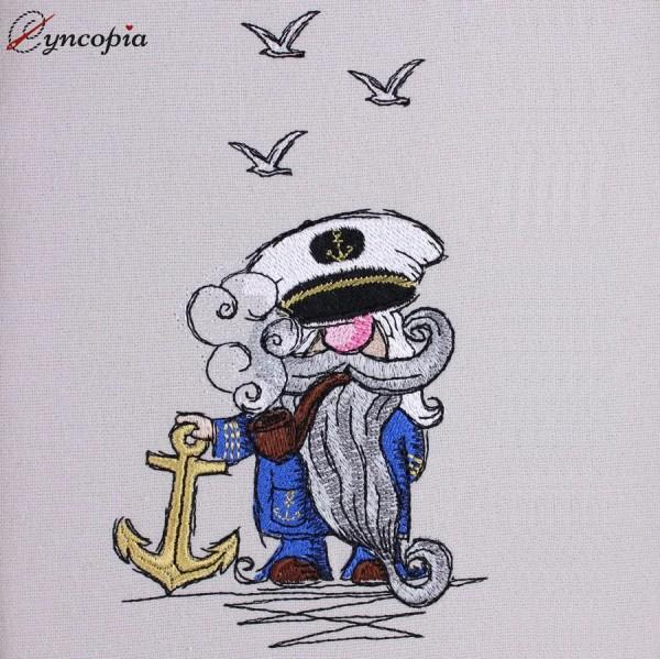 Embroidery Design Captain Gnome