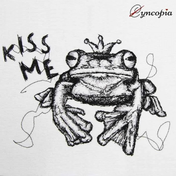 Embroidery Design Frog Prince Scribble