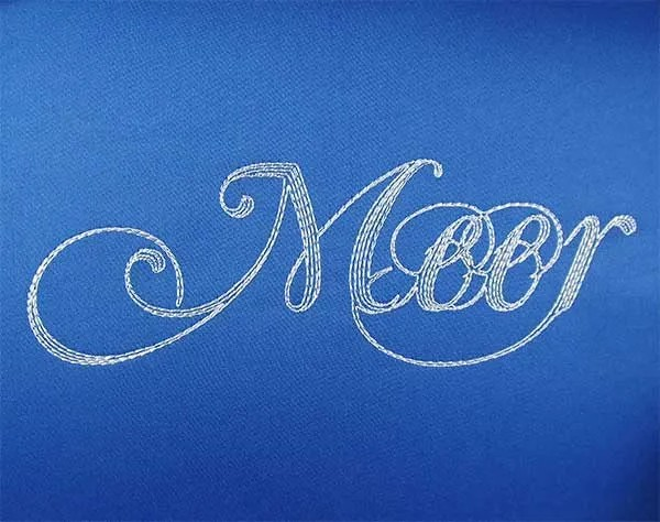 Embroidery Design Meer Lettering Set