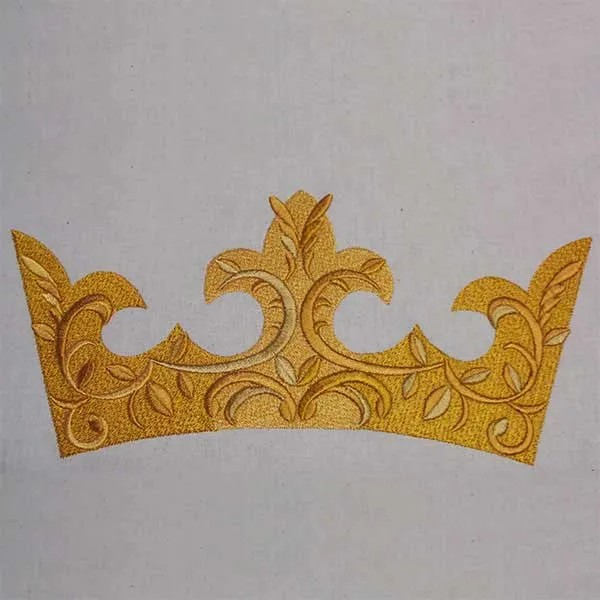 Embroidery Design Gorgeous Crown