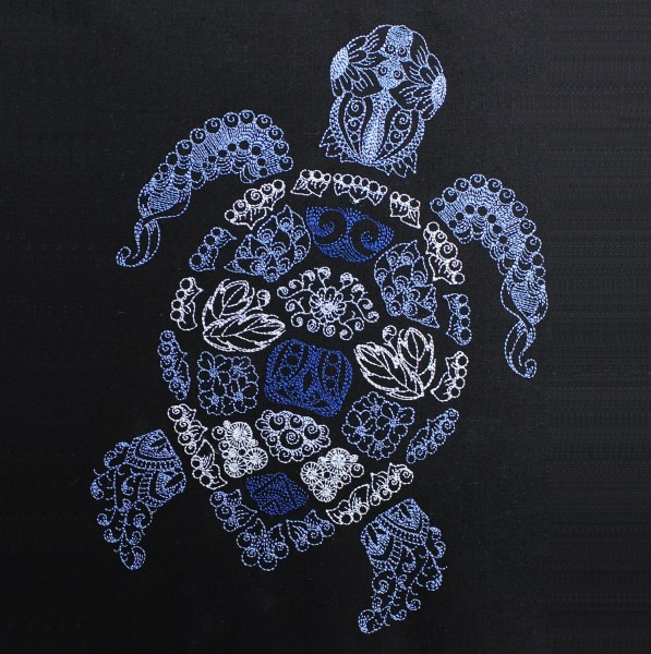 Embroidery Design Turtle Zendoodle