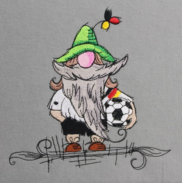 Embroidery Design Soccer Gnome
