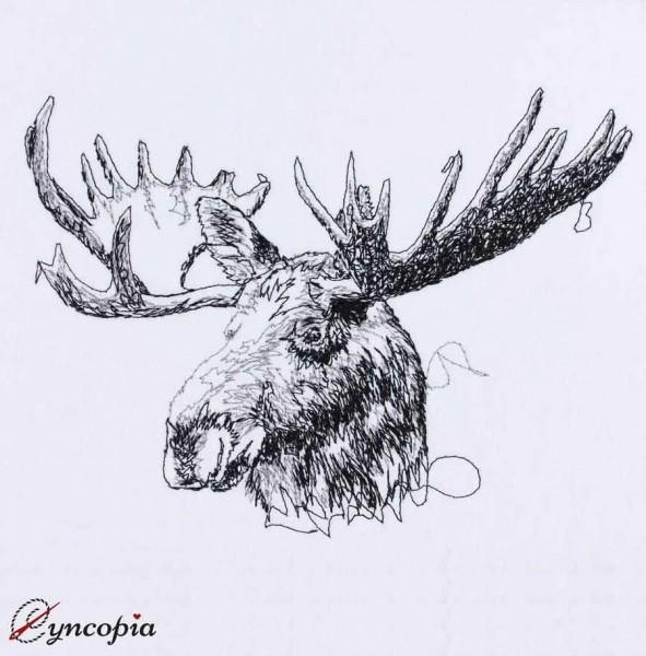 Embroidery Design Elk scribble