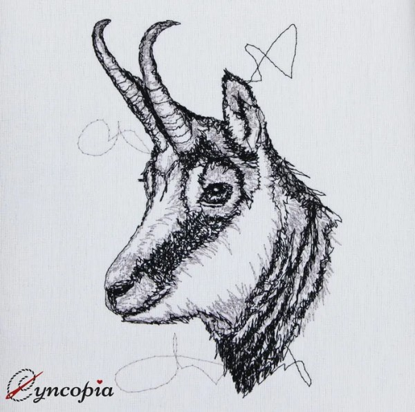 Embroidery Design Chamois scribble
