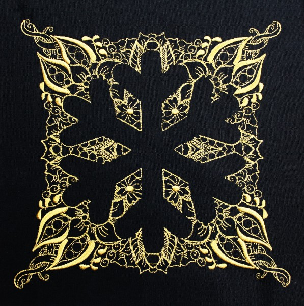 Embroidery Design Snowflake Invers Zendoodle
