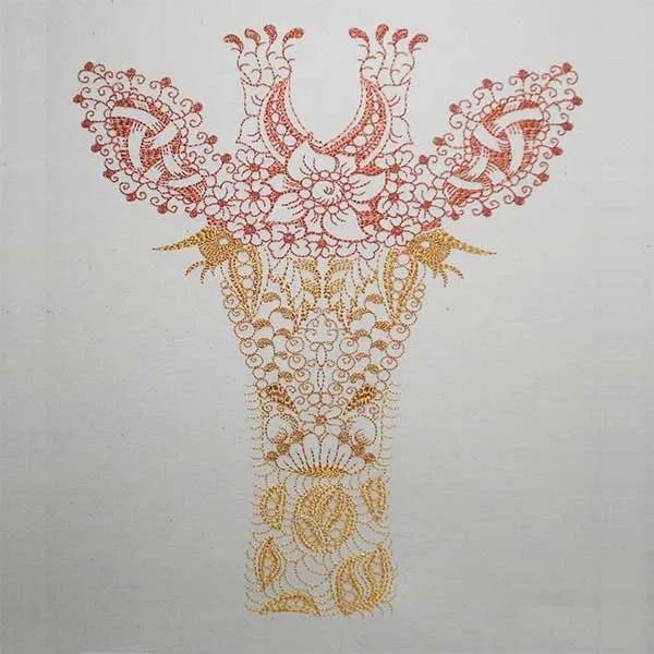 Fichier Broderie Girafe zendoodle