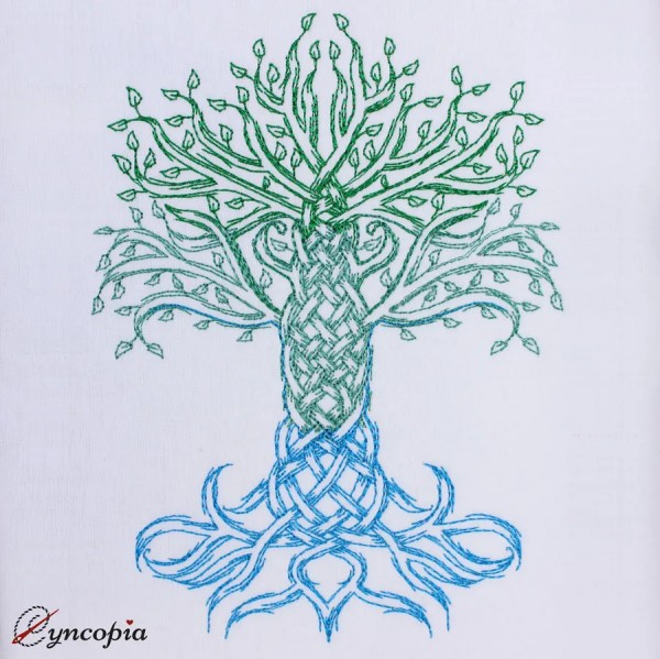 Embroidery Design Celtic Tree of Life