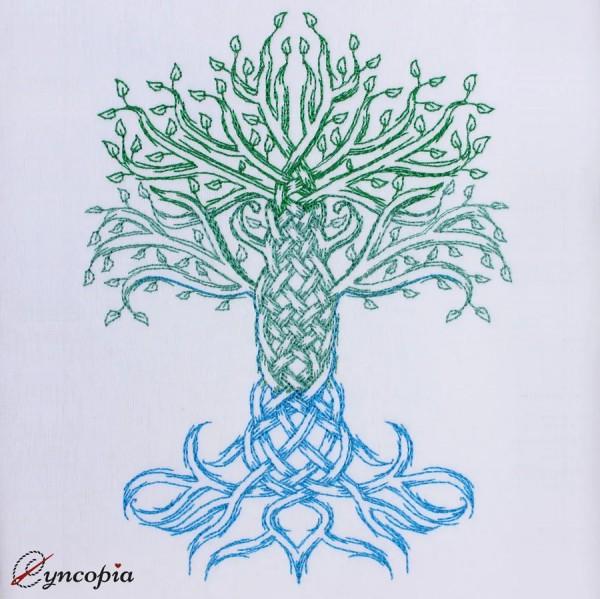 Motif de Broderie Arbre de Vie Celtique