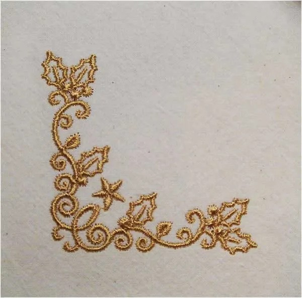 Embroidery Design X-Mas Ornament Corner