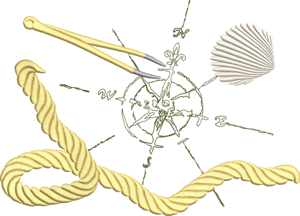 Embroidery Design Windrose