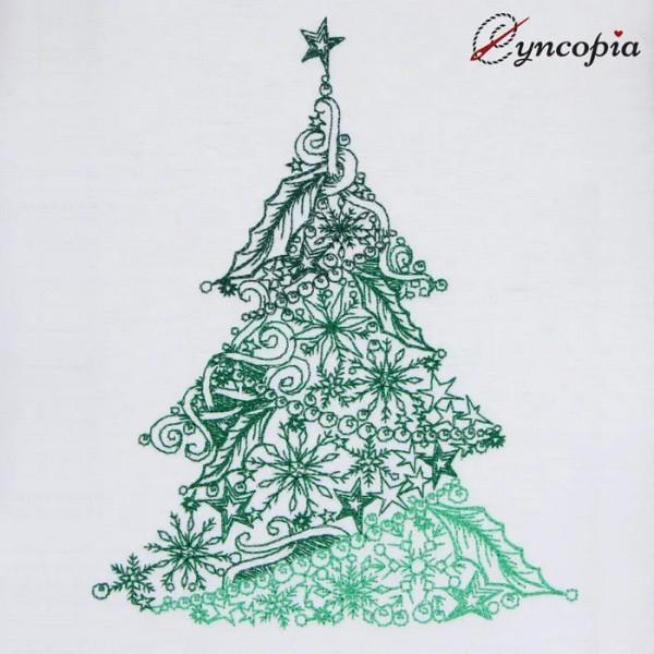 Embroidery Design Christmas Tree Zendoodle