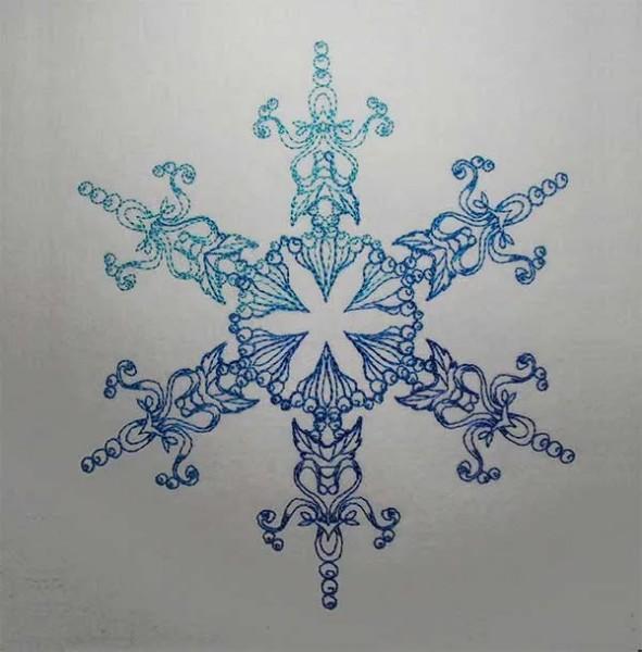 Stickdatei Schneeflocke Gendra