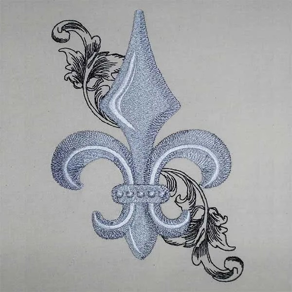 Embroidery Design French Lilly baroque