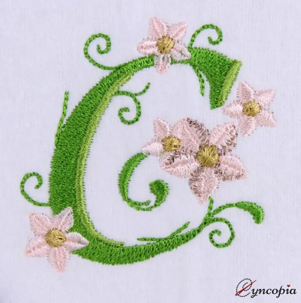 Embroidery Design Marguerites Alphabeth C