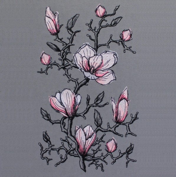 Embroidery Design Magnolia romantic