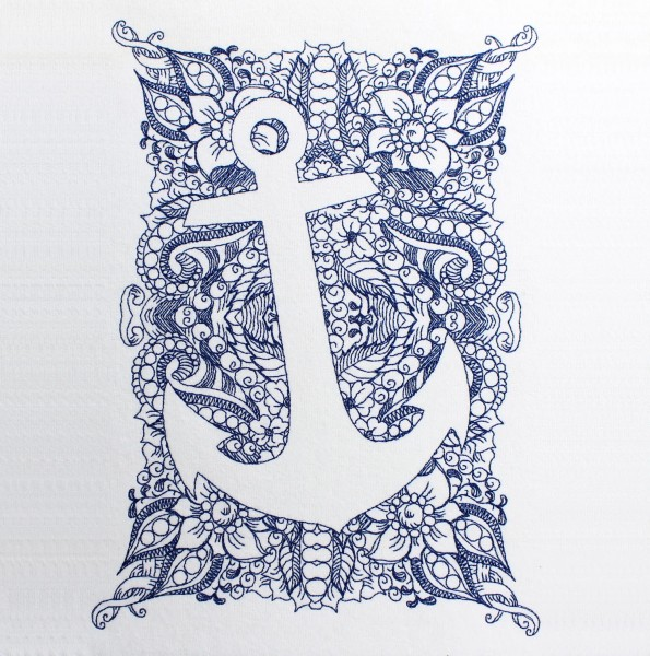 Embroidery Design Anchor Invers Zendoodle
