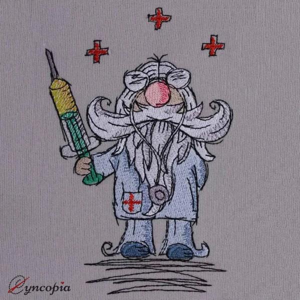Motif de Broderie Docteur Gnome