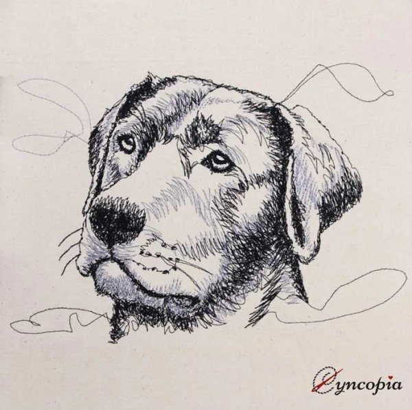 Fichier Broderie Labrador Scribble